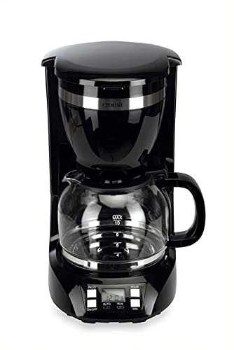 Croma Drip Coffee Maker 1.5L with 10 Cup Capacity, Keep Warm Function, Permanent Nylon Filter & Timer (900W) (CRAK0028, Black)