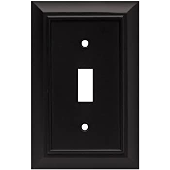 Brainerd 64219 Architectural Single Toggle Switch Wall Plate / Switch Plate / Cover, Flat Black