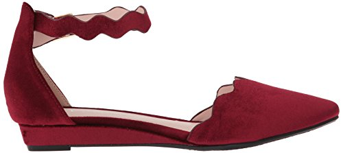 Chinese by Women's Piece Flat Studio Laundry Toe Velvet Two CL Wine Pointed q15nadqW