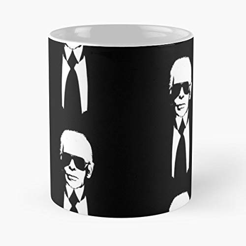 Karl Lagerfeld Fashion Chanel Paris - 11 Oz Coffee Mugs Ceramic The Best Gift For Holidays, Item Use Daily