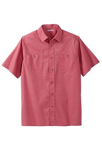 KingSize Men's Big & Tall Short Sleeve Solid Sport Shirt, Dark Salmon (Shape Salmon)