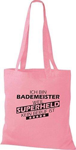 Shirtstown Sacchetto in stoffa Sono Bagnino, perché Super eroe niente Occupazione è - Rosa, 38 cm x 42 cm