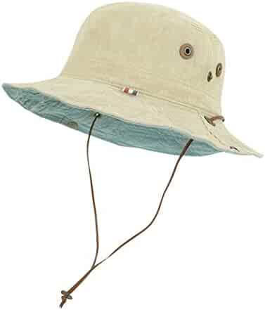 ad600f850d8 ililily Washed Cotton Vintage Hunting Fishing Camping Outdoor Boonie Bucket  Hat