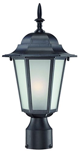 Acclaim 6117BK/FR Camelot Collection 1-Light Post Mount Outdoor Light Fixture, Matte Black