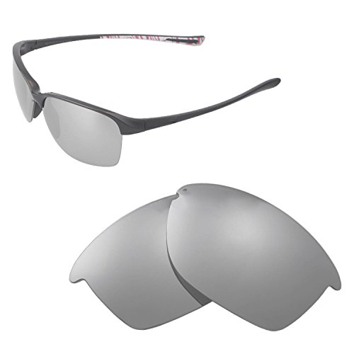 Walleva Replacement Lenses For Oakley Unstoppable Sunglasses - Multiple Options available (Titanium - - Oakley Titanium Clear Lens
