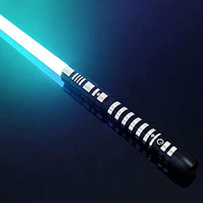 YDD Lightsaber Metal Aluminum Hilt, Ghost Premium Force FX RGB Led 16 Colors Changing Black Series Light Saber for Adults, Support Real Heavy Dueling (Single): Toys & Games