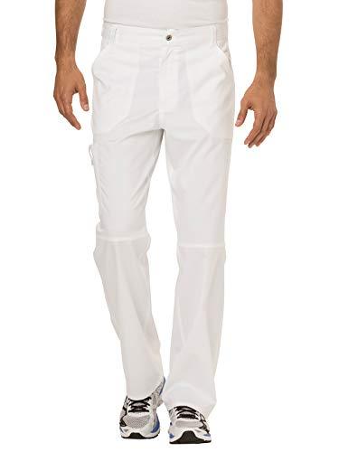 Cherokee Men's Fly Front Pant, White, ()