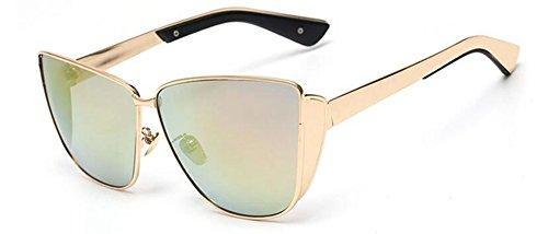 vintage style Lennon Local retro soleil rond inspirées métallique polarisées du de Or en lunettes cercle gXnxq0wABx