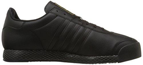 adidas Originals Herren Samoa Retro Sneaker Schwarz / Schwarz / Gold