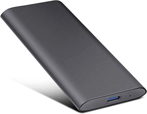External Hard Drive Type C USB 2.0 Portable 1TB 2TB Hard Drive External HDD Compatible for Mac Laptop and PC (2tb, Black)
