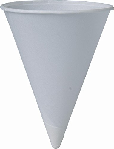 SOLO 200 Piece Cup Company Cone Water Cups, Cold, Paper, White, 4 oz.