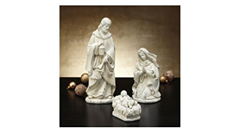 Holy Family 4-Piece Nativity Figurine Set, Baby Jesus - Handcrafted