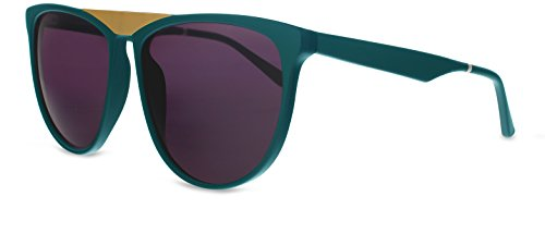 Smoke X Mirrors La Bambola Unisex Sunglasses SM121 Based in New York City, Handmade in France (Green - Matte Gold, - New City York Sunglasses