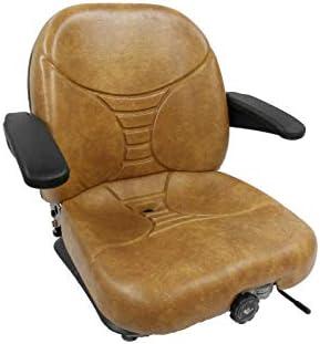 MILSCO Tan Suspension Seat, Scag, Hustler, Exmark, Bobcat, Bunton, Dixie  Chopper, Ztr #HA