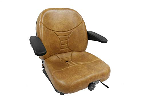 Replacement Scag Parts - MILSCO Tan Suspension Seat, Scag, Hustler, Exmark, Bobcat, Bunton, Dixie Chopper, Ztr #HA