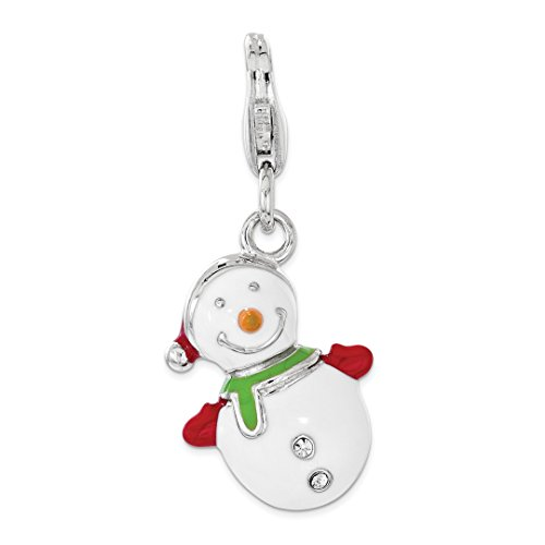 Bag Avon The It (925 Sterling Silver Enameled Swarovski 3d Snowman Lobster Clasp Pendant Charm Necklace Holiday Winter Fine Jewelry For Women Gift Set)
