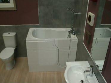 La mampara de baño con Athena asiento Integral y puerta: Amazon.es ...