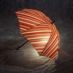 Liquid Series Lighted Umbrella (Red/Orange)