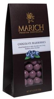 (MARICH CONFECTIONERY Nat Choc Blueberries, 4.5 OZ)