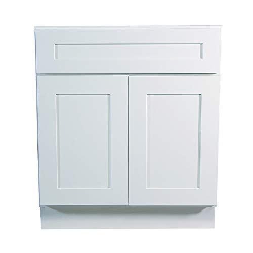 Design House 561472 Brookings 30-Inch Sink Base Cabinet, White Shaker ()