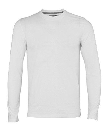 (Adidas Men's Long Sleeve Aeroknit T-Shirt, White X-Large)