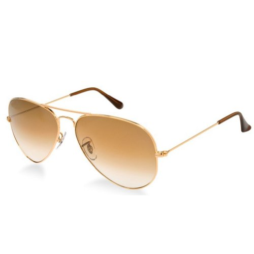 SWG Eyewear Metal Classic Aviator Sunglasses in - Gradient Brown Sunglasses