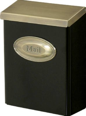 (Solar #DVKGB000 Large Black Wall Mailbox)