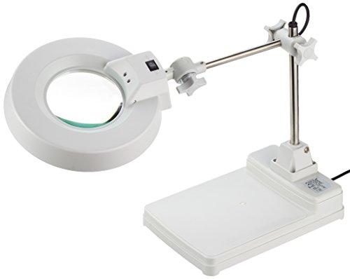 Laron S3105 Neon Magnifier Lupenlampe Lupenleuchtemit Standfuß Lupenleuchte 22 Watt  8 Dioptrien