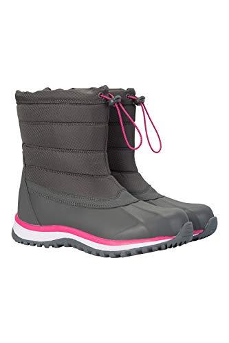 Niveau Gris avec Mountain Peau Bottes pour Doublure Femme après Froid Glacier Haut pour Temps Imitation Warehouse Bottes Chaussures de Mouton Ski Chaudes Traction de rF0gWzUFqx