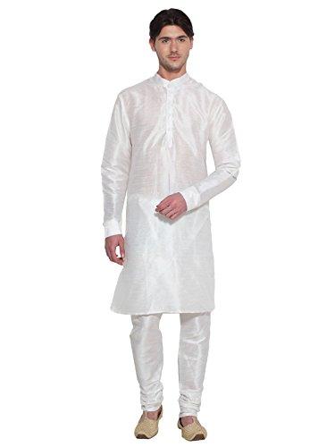 Herren Kurta Pyjama Set Weiss Bollywood Designer Ethnische Hochzeit