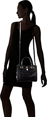 A|X Armani Exchange Croc Small Shopper