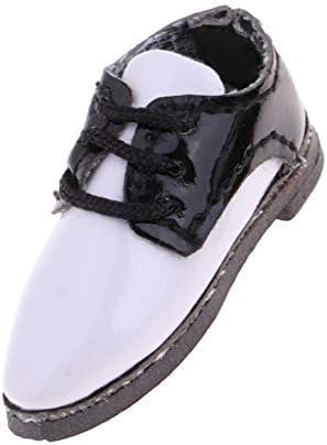 ドレスアップ 12インチブライス アゾン リカドール人形用 Puレザー製 オックスフォード シューズ 靴 4色 - ブラック