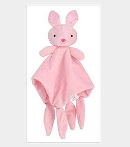 Upstudio Lindo Encantador Lindo Conejo de Juguete Toalla de Algodón Suave Toalla de Mano Bebé Edredón Juguetes Peluche _Pink: Amazon.es: Juguetes y juegos
