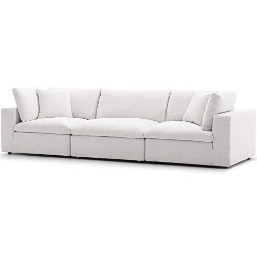 Modern Contemporary Urban Design Living Room Lounge Club Lobby Sofa Set, Fabric, Beige