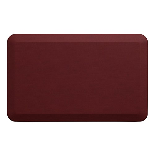"NewLife by GelPro Anti-Fatigue Designer Comfort Kitchen Floor Mat, 20x32"", Grasscloth Crimson Stain Resistant Surface with 3/4"" Thick Ergo-foam Core for Health and Wellness"