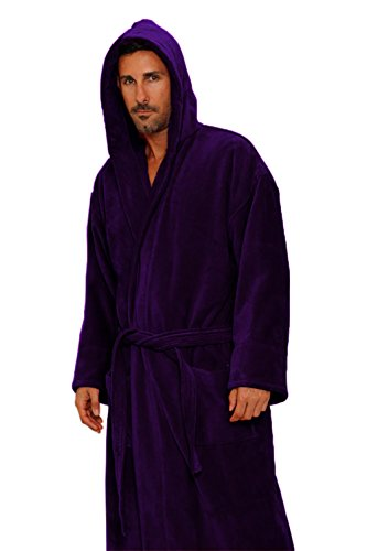 Heavy 3LB Hooded Terry cloth Bathrobe. Full Length 100% Turkish Cotton 0aec7ea51