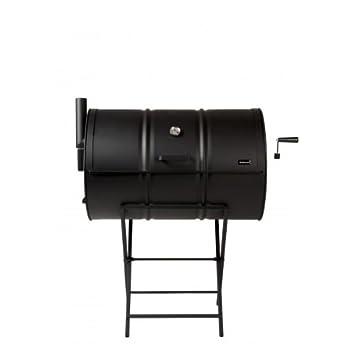 Ahumador de tambor Drumbecue original de carbón, para barbacoas, con termostato: Amazon.es: Jardín