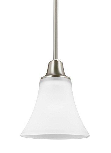 Sea Gull Lighting 6113201EN3-962 One Light Mini-Pendant Brushed Nickel