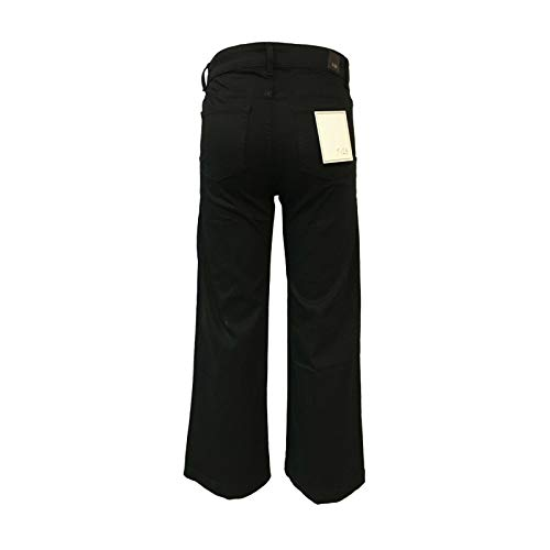 Donna 98 Leg 24 In Made Black Mod Wide 7 Italy Nero Elastan Ivy Jeans Cotone 2 BwaqgnExT