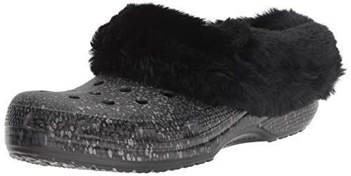 - Crocs Classic Mammoth Luxe Radiant Clog, Black, 7 Men / 9 US Women