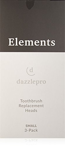 Elements Of Design Toothbrush - Dazzlepro 3-Piece Set Replacement Brush Heads for Elements Sonic Toothbrush - Small, 0.045 Lb.