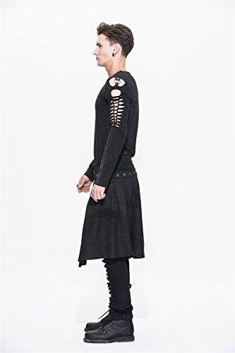 Devil Fashion Men Trouers with Kilt Holes Gothic Detachable Slim Casual Pants 5