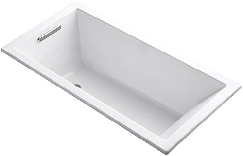Undermount Soaking Tub - Kohler K-1121-0 Underscore Drop-In Undermount Bathtub, White