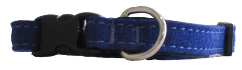 Hemp and Certified Organic Cotton Cat Collar Made in the USA Blue, My Pet Supplies