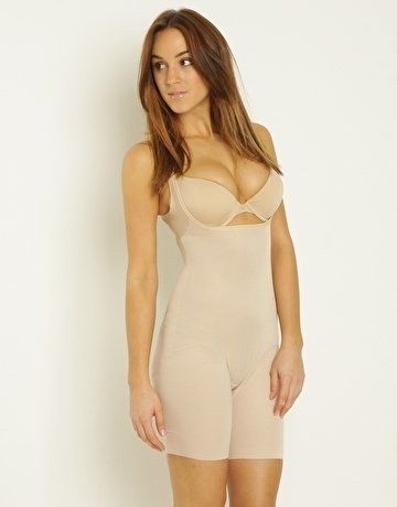 faa51b31f2f4b Naomi and Nicole Shapewear Nude Thigh Slimming Torsette 7071 at Amazon  Women s Clothing store