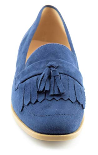 Loafer Navy KIKI Tassel Women's Shoes Comfort su Flats Fringe Accents CALICO Flat 7UFTcay47W