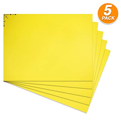 (Emraw Poster Board Lightweight Craft Backing Boards for Presentations Office Sign Blank Painting Board Smooth Surface Poster Sheets for School Pack of 5)