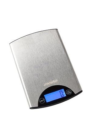 Mesko CR 3147 Balanza de Cocina Electrónica, Acero Inoxidable, Plateado: Amazon.es: Hogar