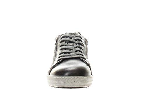 Grigio Giardini Sneaker in Pelle Blu Uomo Nero ZpOA7