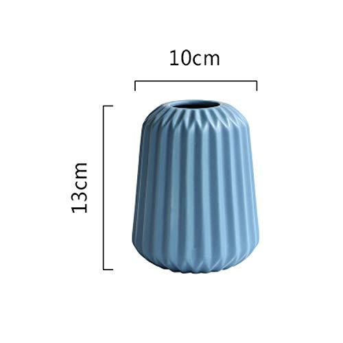 tthappy76 1Pc Origami Vase Ceramic Flower Vase Home Decor Elegant Tabletop Vase Porcelain Craft Water Planting Container,H